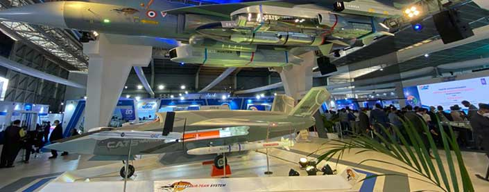 HAL Displays Advanced Fighter & Unmanned Combat Air System at Aero India 2021